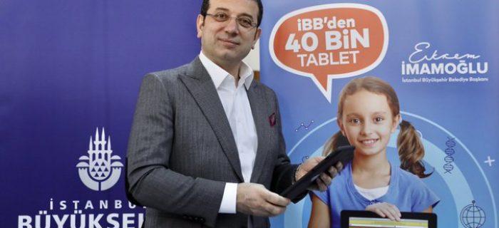 """İMAMOĞLU'NDAN """"40 BİN TABLET DAĞITIYORUZ"""" AÇIKLAMASI"""