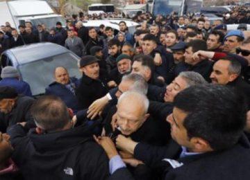 """ANKARA VALİLİĞİ'NE GÖRE KILIÇDAROĞLU'NA YAPILAN SALDIRI """"PROTESTO""""YMUŞ"""